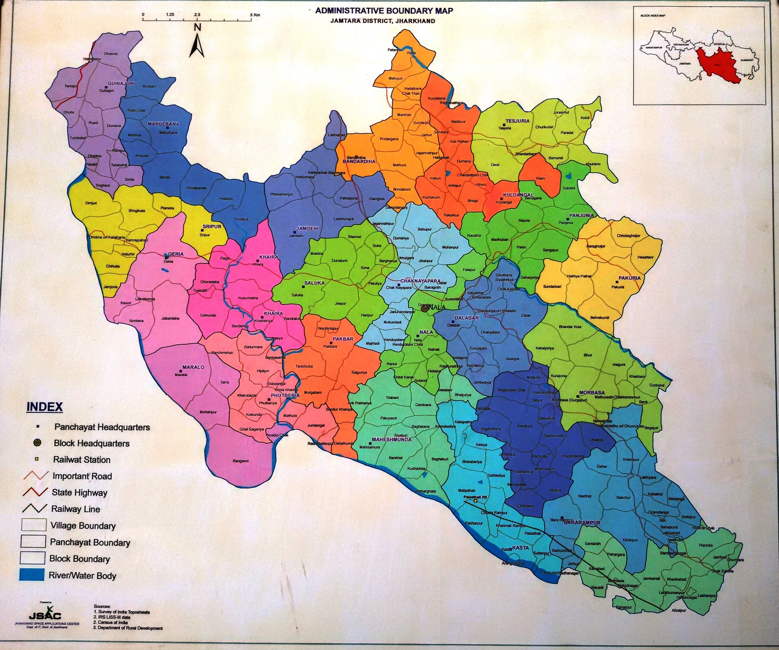 Map Of District District Jamtara Government Of