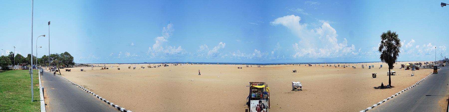 Panoramic View Stretch - Sandy Marina Beach