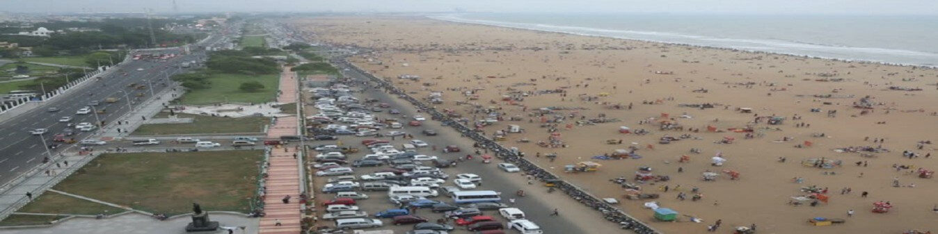 Marina Beach from Light House image