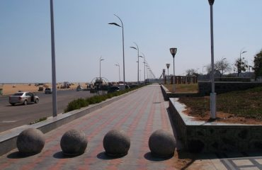 Marina Beach Promenade Towards Lighthouse