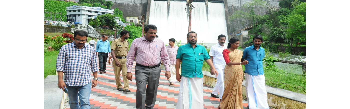 Kerala Govt. Chief Whip and District Collector visiting Peechi Dam