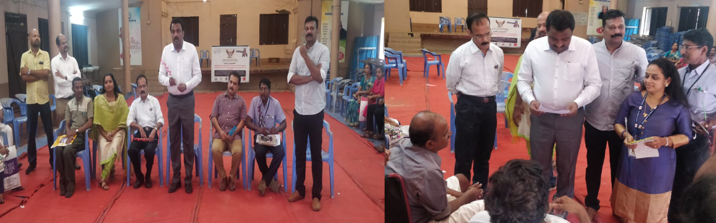 District Collector inagurating services for differentially abled persons at Vanitha indoor stadiums