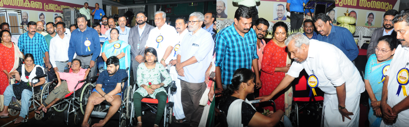 Motorized wheelchairs are transferred to the beneficiaries under the scheme implemented by the District Collector-2020