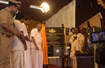 Honorable Chief Minister lays foundation stone for Guruvayur Temple Police Station -2019