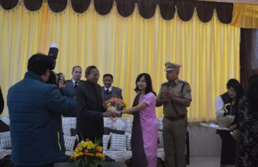 Deputy commissioner felicitating governor image