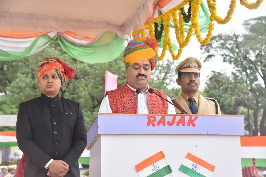 माननीय मंंत्री सुखदेव पांंसे जी द्वारा स्वंत्रता दिवस भाषण
