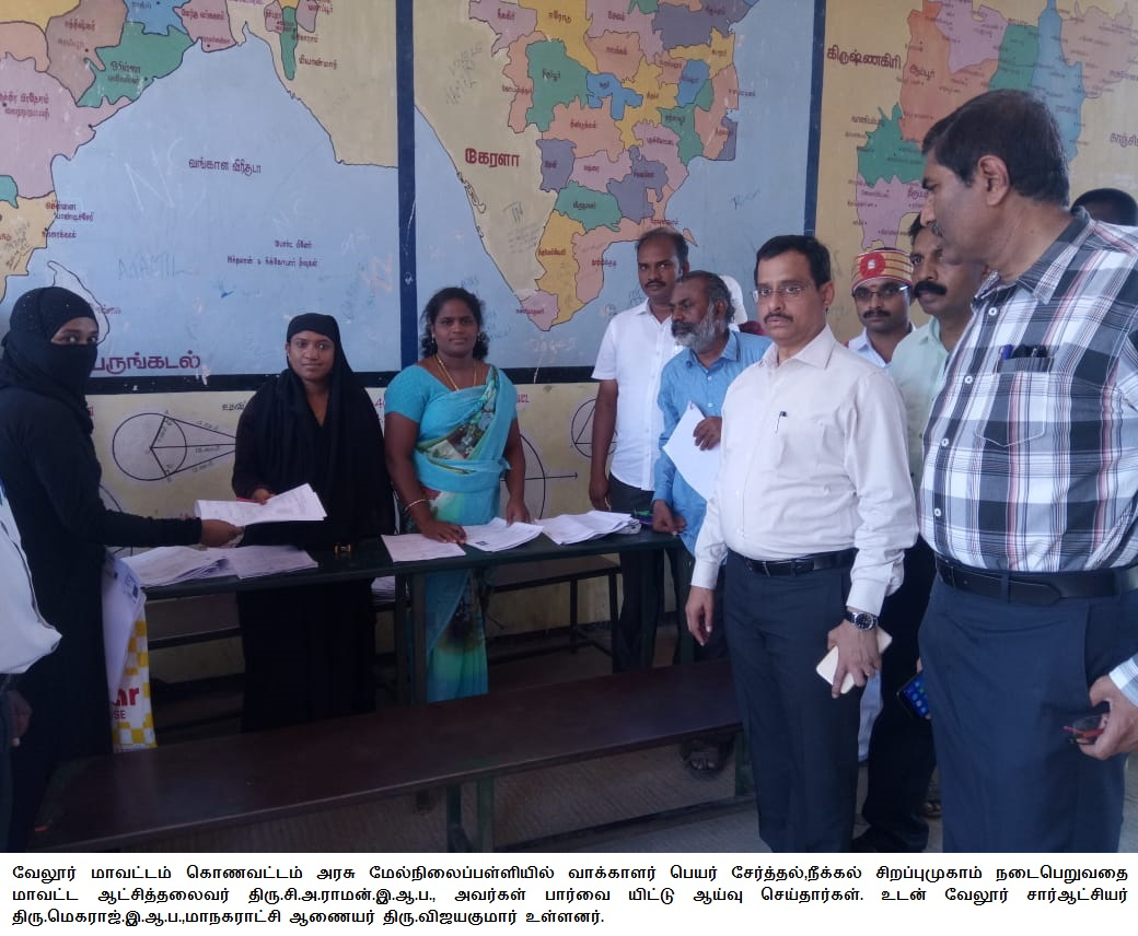 Special camp for electoral roll revision - Visit 09-09-2018