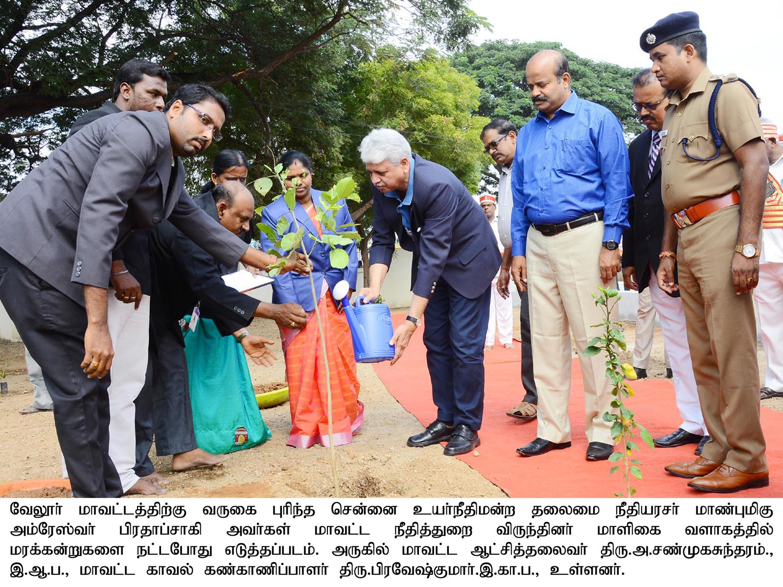Hon'ble Chennai High Court Chief Justice Tree Plantation 26/12/2019