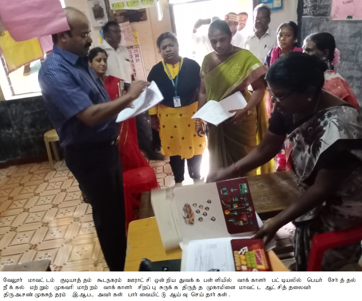 Inspection on Election Roll Special Summary Revision Camp