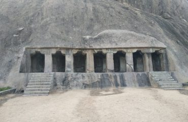 Front view, Rock cut cave, Vilappakkam