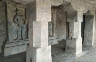 Inner view of Rock cut temple, Mahendhravadi
