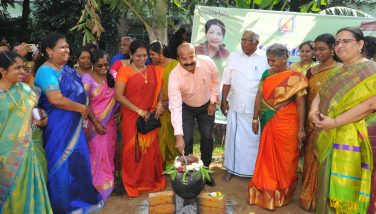 Pongal Festival Celebrated at DKM Women's College 10/01/2020