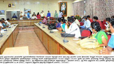 Meeting for Discussing Sending Stranded People Stayed in Vellore 10-05-2020