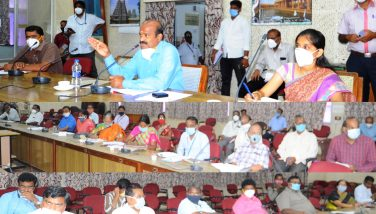 District Collector Meeting with Minority welfare department 31-07-2020