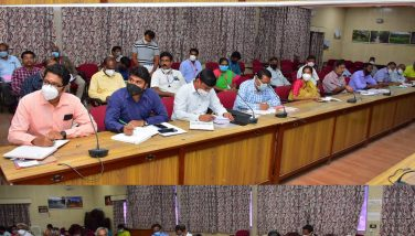 Meeting with All Department officals for North East Monsoon Preventive Activities 03-08-2020