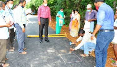 District Collector inspected Newly Constructed Road 25-08-2020
