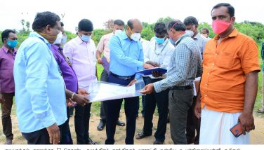District Collector inspected construction of new School Building at Gudiyatham Taluk 01-09-2020