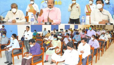 Weekly Review meeting with District Collector 12-10-2020