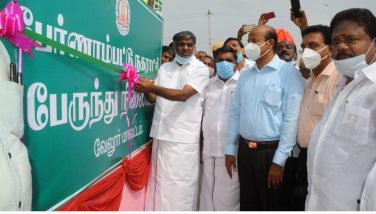 Honorable Minister K C Veeramani Opened New Bus Stand in Pernambut 23-10-2020