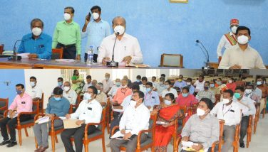 Law and Order Meeting with District Collector 02-11-2020
