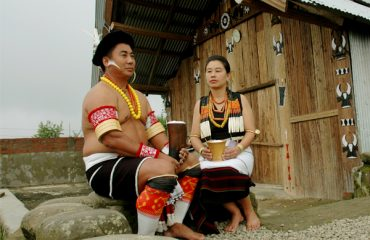 A Couple in Angami Traditional Attire
