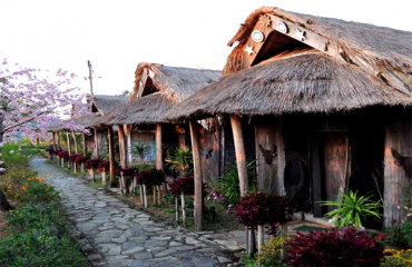 traditional huts at Touphema