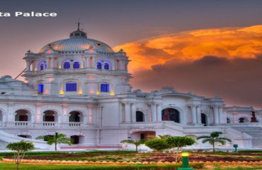 Ujjayanta Palace in Evening