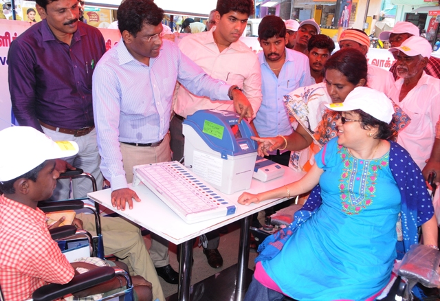 Differently Abled Voters Awareness Vehicle Rally.