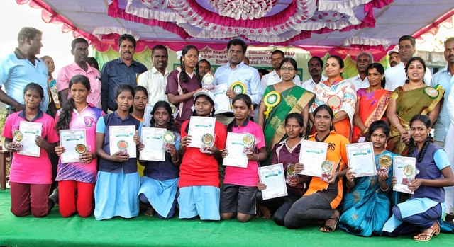 Collector Participated In Taluk Level School Sports