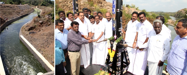 Released Water For Irrigation From Sathanur Dam.