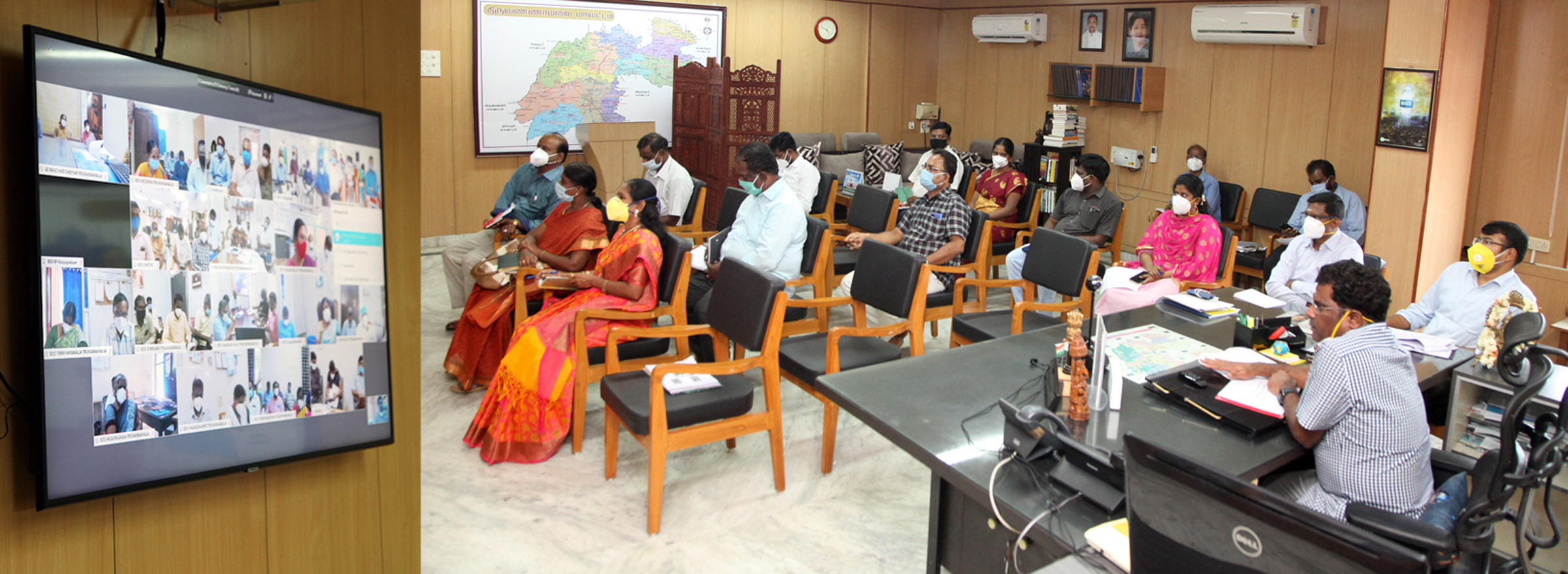 District Collector Conduct Review Meeting Through Video Conferencing