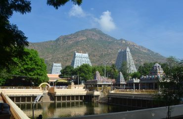 Temple with Mountain view.