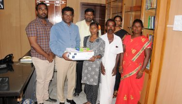 Rescued Bonded Labour Student Suganya .