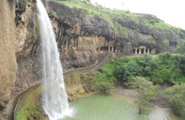 Waterfall in Ajanta cave