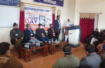 11th National Voters' Day celebrated at District Poonch, J&K