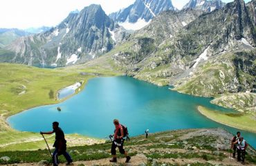 Trek around Gadsar Lake