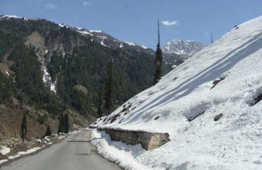 Road to Thajiwas Glacier