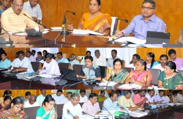 An Inspection Meeting about Development activities in District