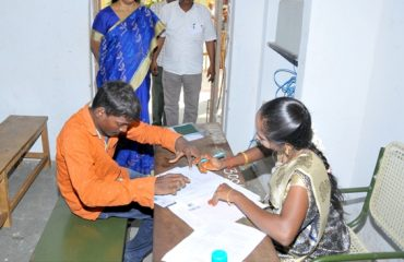 The District Collector visited the TNPSC examination center.