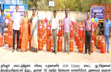 Election Awareness sticker in Gas Cylinders.
