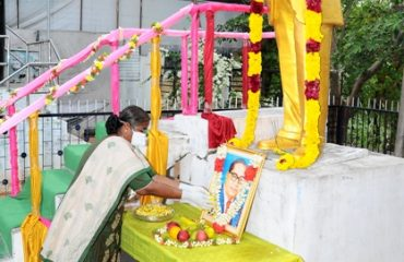 On account of Ambedkar's birthday, District collector honors his idol