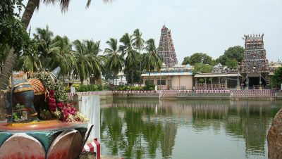 Pillayarpatti Temple Pond View.