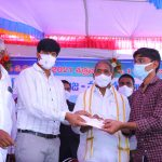 1-10-2021 DIST.COLLECTOR LAYING FOUNDATION STONE FOR PETROL BUNK AND PESTICIDES PURCHASE CENTER AND LAUNCH HARVESTERS AT VEMSOOR