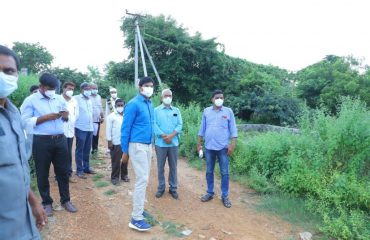 30-9-2021 DIST.COLLECTOR INSPECTED GOVT LAND RECORDS AT RAGHUNADHPALLEM