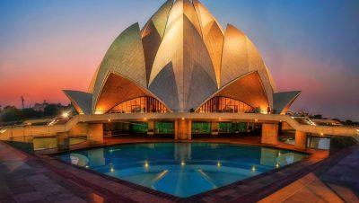 Lighting View Lotus Temple