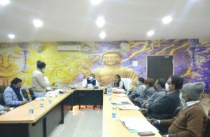 आज दिनांक 18 .01.2021 को उपायुक्त महोदय गोड्डा श्री भोर सिंह यादव की अध्यक्षता में प्रधानमंत्री कौशल विकास योजना( PMKVY )