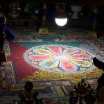 Mandala made to honour_ Lord Mahakala at Dali Monastery