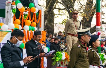 District Magistrate _addressing during Republic Day