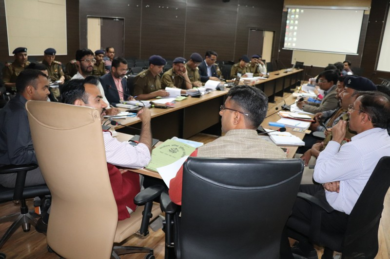 Meeting of all ARO and Police Jurisdictions of District by District Magistrate