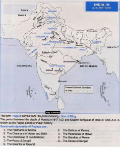 India 800-1200 Map